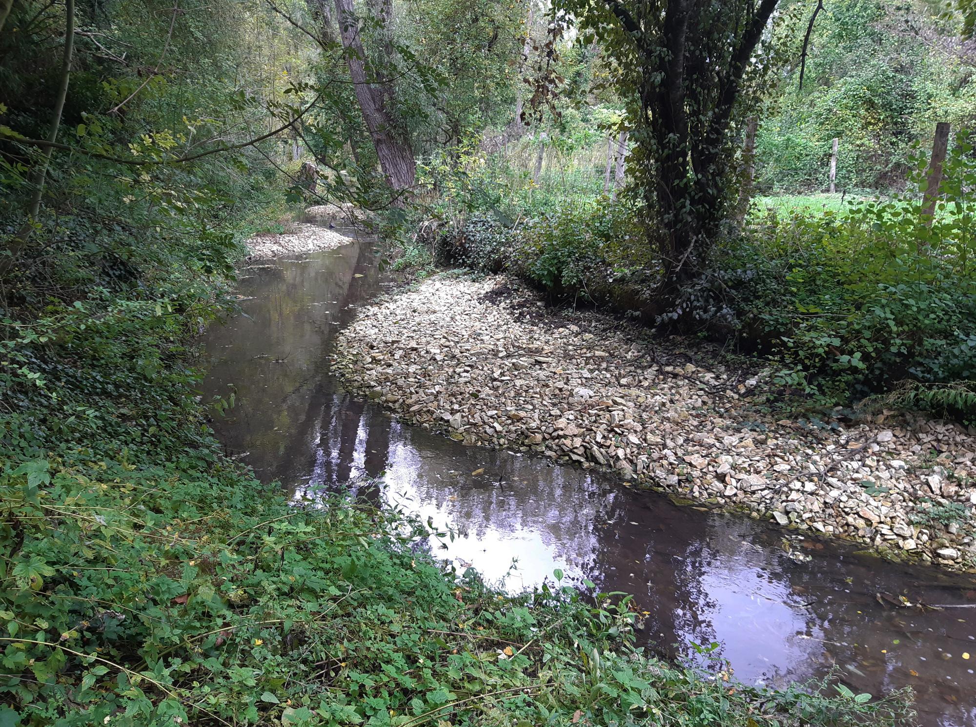 Les travaux de restauration du lit des cours d'eau